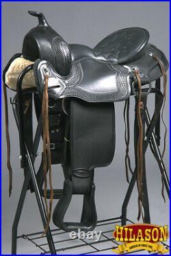 16 Hilason Western Gaited Trail Pleasure Endurance Horse Saddle Black U-0-16
