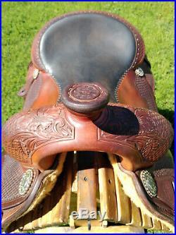 16 Martin Cutting Cowhorse Saddle