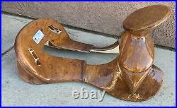 16 Saddle Horse Mexican Brown Charro Tree. Fuste Charro Cafe. Montura Charra