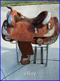 16 Seat Original Billy Cook Show Saddle Sulphur OK