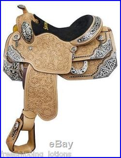 16 Showman Show Saddle With Floral Tooling & Silver Accents 6602