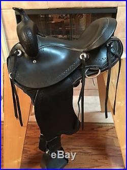16 TN Saddlery Gaited Western Trail Rider Saddle Black