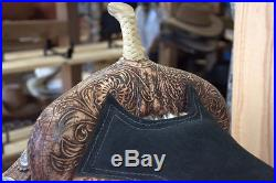 16 Used Pre Owned Hilason Western Dressage Flex Tree Barrel Racing Trail Saddle