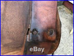 16 Vintage Buckstitched Western Horse Saddle
