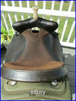 16'' green big horn #232 western bear trap barrel saddle Cordura & Leather QHB