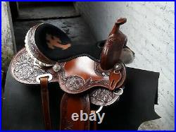 16'' western barrel racing Saddle with antic finished