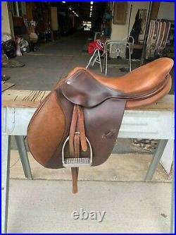 17.5 CWD Saddle in good condition, comes with stirrup leathers