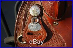 17.5 Crates saddle 2197 Trail saddle withextras