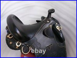 17 Australian Stock saddle full black leather with full accessories