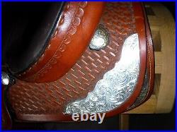 17 Dixieland Gaited Western Show saddle, Steele Lifetime Walking Horse Tree