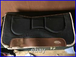 17 inch used brown western saddle 7 inch gullet