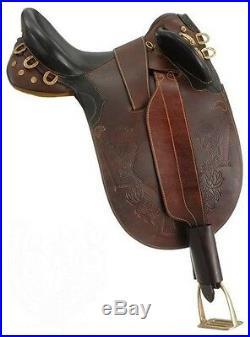 19 Inch Australian Saddle Stockman Bush Rider Dark Oil No Horn-Wide Tree