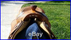 2000 16 Blue Ribbon Show Saddle with Two Silver Corner Plates Nearly Brand new