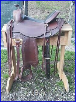 4136 Reinsman Comfort Fit Trail Saddle WESTERN 16 with Breast Collar & Rear Cinch
