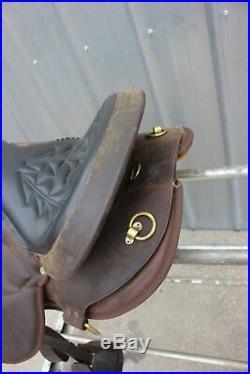 53-5 Brand New Silver Royal 16 dark oil Lady Gait Endurance Saddle