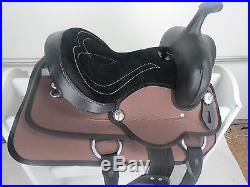 8 Western Youth Child Kids Synthetic Pleasure Trail Pony Horse Saddle Brown