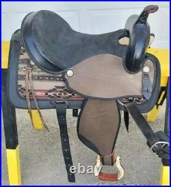 Abetta 16 Trail/Barrel Western Horse Saddle Southwestern Print Design