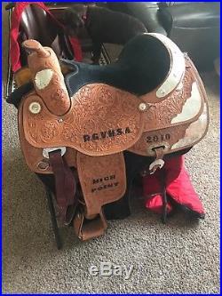Alamo Saddlery size 16 western silver show saddle