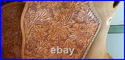 Alamo Western Show saddle riding pleasure trail 16 floral carved with silver
