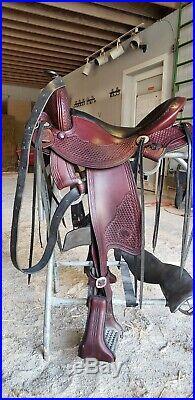 Allegany Western trail saddle 15.5 AW Steele tree