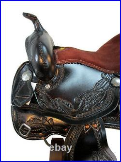 Arabian Horse Western Saddle 15 16 17 Pleasure Floral Tooled Leather Trail Tack