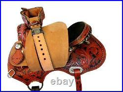 Arabian Horse Western Saddle 15 16 Trail Pleasure Tooled Leather Barrel Tack Set