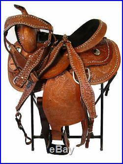 Arabian Saddle Western Barrel Trail Racer Show Pleasure Genuine Leather 15 16