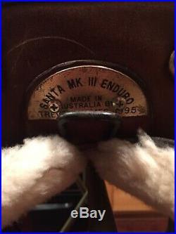 Australian Saddle Santa MK III Enduro Custom Made by Trevor James Saddlery 1995