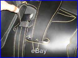 Australian Stock Leather Saddle Set Black 18 (sl 1110bl)