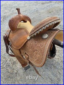 BEAUTIFUL Martin Sherry Cervi Crown C Barrel Saddle 15 Seat 7 Gullet