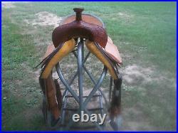 Barrel Saddle/ Corriente Saddlery 15 1/2 Inch Hard Seat