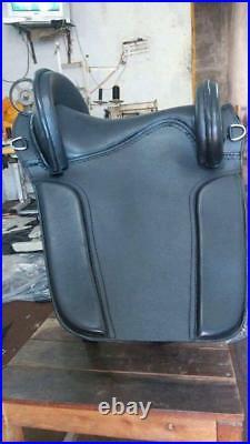 Beautiful Antique Design Black Baroque Style genuine Leather Horse Saddles