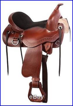 Beautiful Treeless Western Pleasure Trail Horse Saddle Tack Set 15 18 New