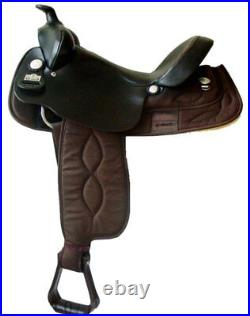 Big Horn Synthetic Cordura Gaited Tree Lightweight Saddle Brown 16 NEW #257