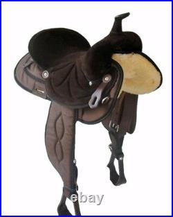 Big Horn Synthetic Cordura Trail Saddle Black or Brown 13, 14, 15, 16 or 17 NEW