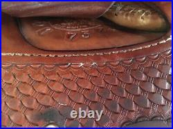 Billy Cook Barrel Saddle 15 FQHB, Price Is Shipped