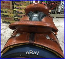Billy Cook CJ Trail Saddle 17 Chestnut with Black Leather Seat #1537