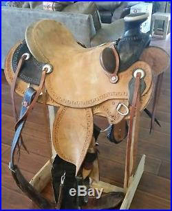 Billy Cook Carlos Wade Saddle with Bucking Rolls, California Twist and tack