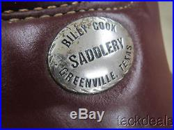 Billy Cook Cutting Saddle 16 Fully Rigged withMohair Cinch USED