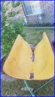 Billy Cook Roping Saddle 16 Seat Brown Acorn Pattern Used WithBack cinch