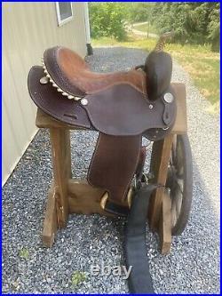 Billy Cook Western Barrel Saddle Round skirt