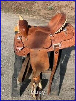 Billy cook barrel saddle 14 inch seat, 7 1/4 inch gullet