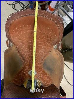 Billy cook barrel saddle 15.5