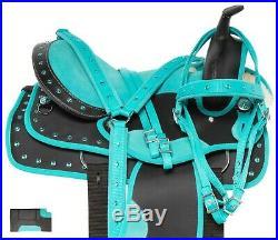 Blue Horse Saddle Barrel Racing Western Pleasure Trail Tack Set 14 15 16 17