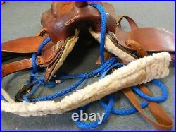 Blue Ridge Genuine Leather Western Horse Saddle With Tack