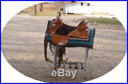 Bob Marshall 16 WESTERN Trail Treeless Sports Saddle with WALLS twist stirrups