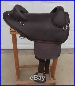 Bob Marshall Treeless Endurance Saddle Dark Brown Leather