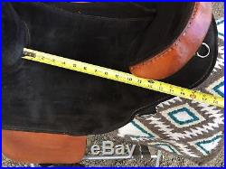Bob Marshall treeless western saddle with pad, cinch and breast plate