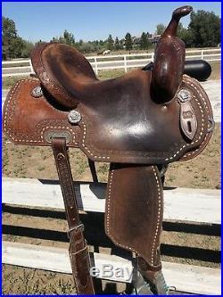Burns Barrel Racing Saddle
