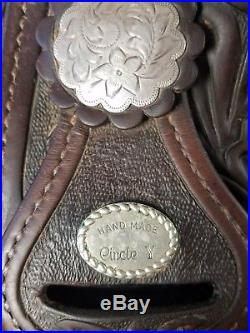 CIRCLE Y show saddle with sterling silver 15 western